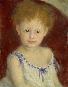 Jacques Bergeret as a Child 1880 | Pierre Auguste Renoir | oil painting
