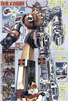 未來機器人達特紐斯|未来ロボ ダルタニアス|Mirai Robo Daltanious|巨獸王|金毛獅王|太空保衛團|未來合體Cross In|未來合体クロス・イン Vintage Robots, Retro Robot, I Robot, Japanese Robot, Cute Japanese, Stormtrooper, Robot Cartoon, Robot Illustration, Good Anime Series