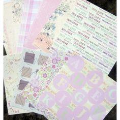 Set 22 papeles Scrapbooking 11 Diseños