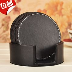 """Find More Mats & Pads Information about Set of 6 pcs 4"""" PU Leather coasters Leather cup placemats ,High Quality leather coasters,China cup placemat Suppliers, Cheap coaster leather from ShenZhen XuanXuan Home Accessories Limited on Aliexpress.com"""