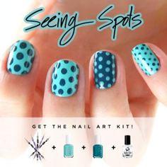 Seeing spots nail polish art kit