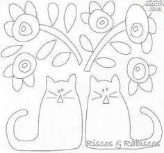 Molde painel gatos.