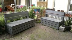 DIY sectional...How to -- > http://www.instructables.com/id/Excellent-Easy-Garden-Storage-Bench/
