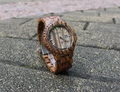 Real wood watches Engraved wooden watch waterproof by WoodMaxT