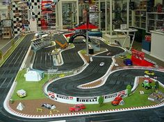 . Ho Slot Cars, Slot Car Racing, Slot Car Tracks, Electric Race Car Set, Scalextric Track, Race Car Sets, Car Racer, Train Set, Ho Scale