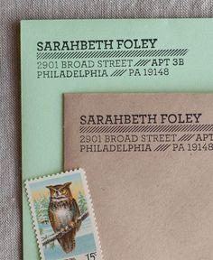 Air Mail Address Stamp