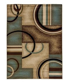 Take a look at this Light Blue Arcs & Shapes Area Rug on zulily today!