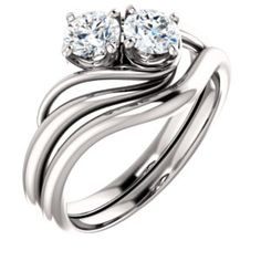 6696e1742b038 8 Best Two-stone Bridal Jewelry images | Bridal jewelry, Stone rings ...
