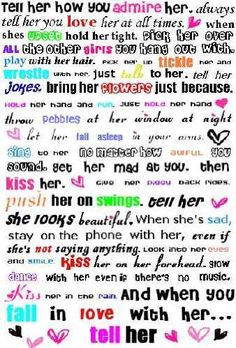 All the things a woman wants from a man... Obviously written by a woman lol :)
