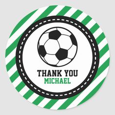 Shop Soccer Football Party Thank You Favor Tags created by OwlieInvites. Football Birthday, Sports Birthday, Soccer Inspiration, Name Card Design, Soccer Party, White Elephant Gifts, Round Stickers, Favor Tags, Baby Shower Parties