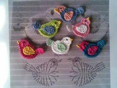 Bird crochet applique