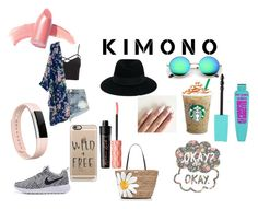 """""""Sweet Freedom Kimono Challenge!!"""" by loveydoveyprincess ❤ liked on Polyvore featuring Charlotte Russe, One Teaspoon, Maison Michel, Fitbit, Casetify, Kate Spade, Benefit, Elizabeth Arden and kimonos"""