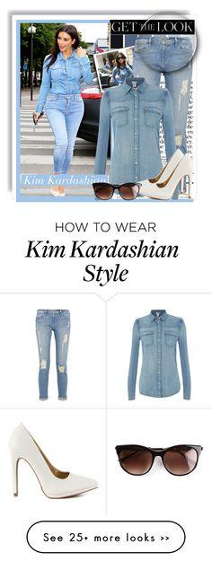 """Get The Look: Kim Kardashian- Denim On Denim Paris"" by vannesaxolivia on Polyvore"