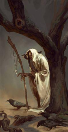 Merlin by MadMosquito on DeviantArt Dnd Characters, Fantasy Characters, Fictional Characters, Raven King, Fantasy Artwork, Underworld, Wizards, Merlin, Fairy Tales