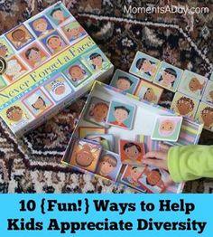 10 {Fun!} Ways to Help Kids Appreciate Diversity - games, activities, music, and more