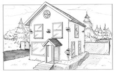 House in Two-Point Perspective