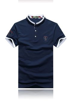 Polo Rugby Shirt, Mens Polo T Shirts, Camisa Polo, Polo T Shirt Design, Fitted Denim Shirt, Polo Shirt Outfits, Modern Outfits, Shirt Style, Shirt Designs