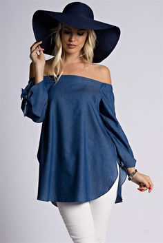 New Casual fashion Sexy Women Off Shoulder Tencel Cotton Blouse Bow Long Sleeve Shirt Split Summer Cold Shoulder Blouse Tops-SheSimplyShopsLa Marchalle's Fashion Boutique, began in 2010 as an online store, focusing on women's trendy apparel and a New Casual Fashion, Diy Fashion, Fashion Boutique, Fashion News, Fashion Outfits, Street Fashion, Plus Size Womens Clothing, Clothes For Women, Mode Top
