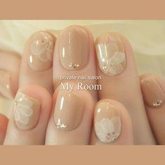 my_roomさんのネイル♪[1817162]|ネイルブック Love Nails, Pretty Nails, My Nails, Mani Pedi, Pedicure, Nail Photos, Japanese Nail Art, Bridal Nails, Cute Nail Designs