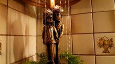 Beautiful very cute Creators rain lamp in gold from 1974 Rain Lamp, Vintage Lamps, Beautiful, Vintage Lighting