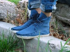 SALE ! Marc'h leather moccasin 2013 Softflex by wearmarch on Etsy, $99.00