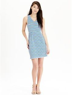 Womens Striped Ponte-Knit Dresses from Old Navy!!! They are so cute and comfortable!!!!!!☺☺☺☺☺☺