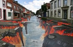 Lava Street Painting...wow.....loss of words! Hunger Games<3 Mockingjay!