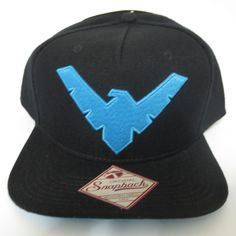 de57ad5c4fa NIGHTWING ROBIN BATMAN Black Hat Cap Snapback COMICS COSTUME COSPLAY Hat
