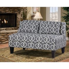 Carolina Accents Briley Armless Loveseat & Reviews | Wayfair