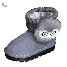 huge discount ac691 04c96 Ohmais Enfants Garçon Fille bottes et bottines botte classiques fille petit  talons Chaussure - Chaussures ohmais