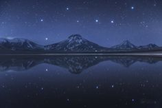 Big Dipper Above and Below Chilean Volcanoes. Image Credit & Copyright: Yuri Beletsky (Carnegie Las Campanas Observatory, TWAN) Explanation: Do you see it? This common question frequently prece… Big Dipper, Cosmos, Chiara Bautista, Today Images, Astronomy Pictures, Nasa Images, Ursa Major, Space And Astronomy, Nasa Space