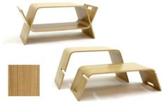 Beautiful And Fabulous Innovative Bench Design In Charming Oak Finish