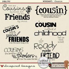 Cousin Word Art