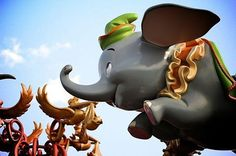 The world's only flying elephant!