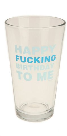 #UrbanOutfitters          #Apparment #Dinnerware    #foul #birthdays #message #pint #language #glasses #happy #wash #birthday #year #usa #hand #glass #classic                        Happy Birthday To Me Pint They come but once a year. Make the most of birthdays and foul language with these classic pint glasses - each topped with a snarky b-day-inspired message. Made in the USA. Hand wash. * Includes 1 glass * 3.5d, 6h * GlassThey come but once a year. Make…
