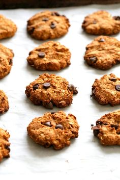 Banana Oatmeal Cookies. Gluten-free Banana Oatmeal Breakfast Cookies with Chocolate chips. 1 Bowl 20 minute Banana Cookies. Vegan Gluten-free Recipe | VeganRicha.com