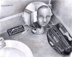 reflective self portrait High School Drawing, Still Life Drawing, High School Art, Middle School Art, Drawing Lessons, Art Lessons, Drawing Ideas, Reflection Art, Art Worksheets
