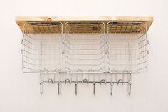 Get your DIY on with this wire wall organizer.