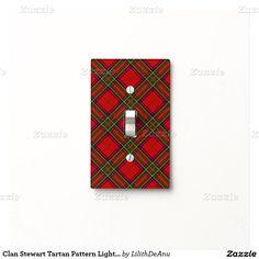 Clan Stewart Tartan Pattern Light Switch Cover