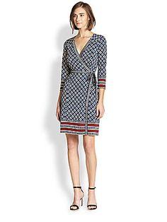 a1bbe01b3a91 Diane von Furstenberg - Tallulah Printed Silk Wrap Dress