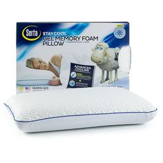 Serta Stay Cool Gel Memory Foam Pillow: Make comfort and repose a priority with this memory foam pillow from Serta.