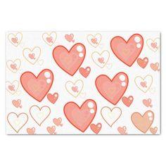 multi-heart pattern tissue paper