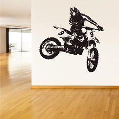 Wall Vinyl Sticker Decals Decor Art Bedroom Design Mural Tribal Dirt Bike Moto Motorcycle (Z1502) StickersForLife http://www.amazon.com/dp/B00EJA148E/ref=cm_sw_r_pi_dp_Do6evb1YSRSNE