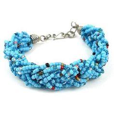 Blue Six Strand Braid Beaded Bracelet Zakali Creations Handmade Fair Trade Craft Handmade Beaded Jewelry, Handmade Bracelets, Handcrafted Jewelry, Beaded Bracelets, Handmade Gifts, Metal Jewelry, Jewelry Box, Gold Jewellery, Diy Jewelry