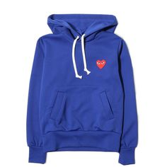 Comme des Garcons W PLAY HOODIE Blue