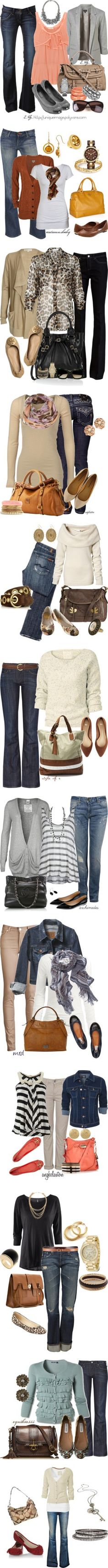 Fall denim styles/outfits ♥✤