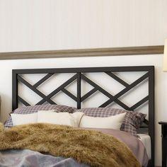 Windmill Metal Headboard - guest room