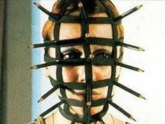 the artist Rebecca Horn made this body adornment called the pencil mask. exhibited on 1973.