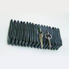 Inner tube key hanger & office accessory