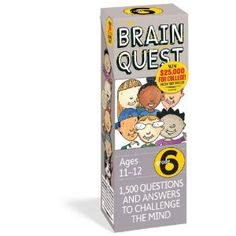 Brain Quest Grade 6, revised 4th edition: 1,500 Questions and Answers to Challenge the Mind. Price: 	$9.56